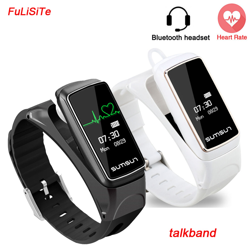цена на Smart Band Bracelet Wristband Fitness Heart Rate Waterproof Bluetooth Earset Style Smart band For Xiaomi Huawei Smartphone