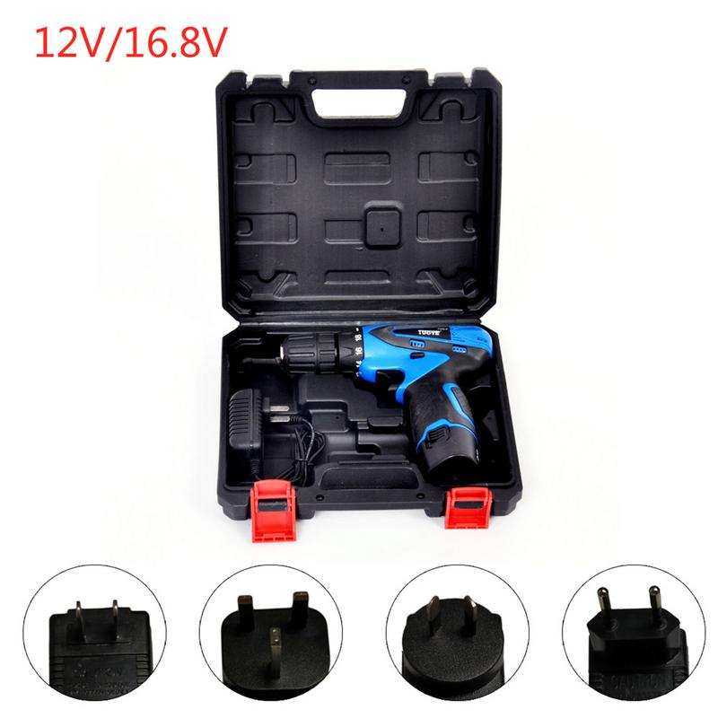 цена на Adjust Speed Rechargeable Hand Electrical Drill 12V/16.8V Charging Small Hand Drill Multi-Function Home DIY Power Tools With Box