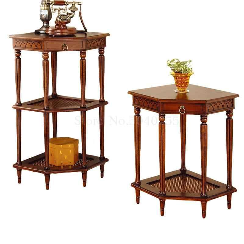Üçgen masa köşe çiçek standı çok katmanlı kanepe yan kabin birkaç köşe masa yüksek çay masası komidin depolama rafı