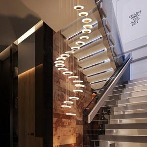 Image 3 - Modern LED avize oturma odası kolye lamba yatak odası armatürleri merdiven asma işıklar restoran asılı aydınlatma armatürü