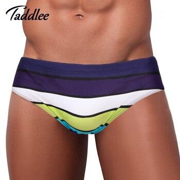 9a75458bb360c Taddlee Брендовые мужские Для мужчин s мужские плавки-трусы Плавание бикини  Плавание одежда купальники мужские Плавание боксеры Мужские Шорты ..