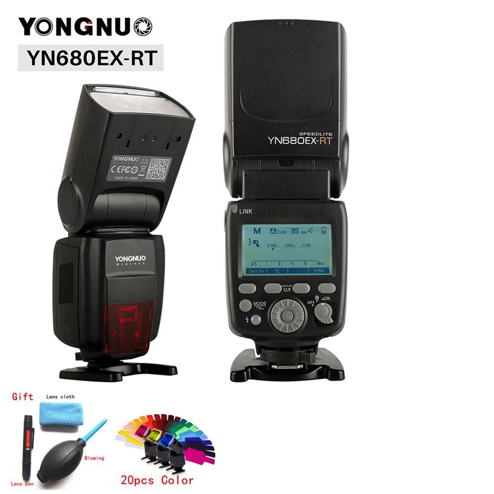 YONGNUO YN680EX-RT TTL Lithium Flash Speedlite haute vitesse 2.4G 1/8000 s sans fil Flash lumière pour Canon 800D 1200D 5D Mark III