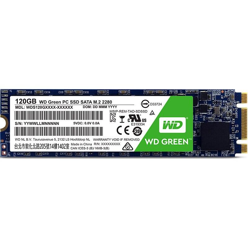 WD Green M 2 2280 120GB 240G 480G SSD Internal Solid State Drive Disk SATA3 6Gb