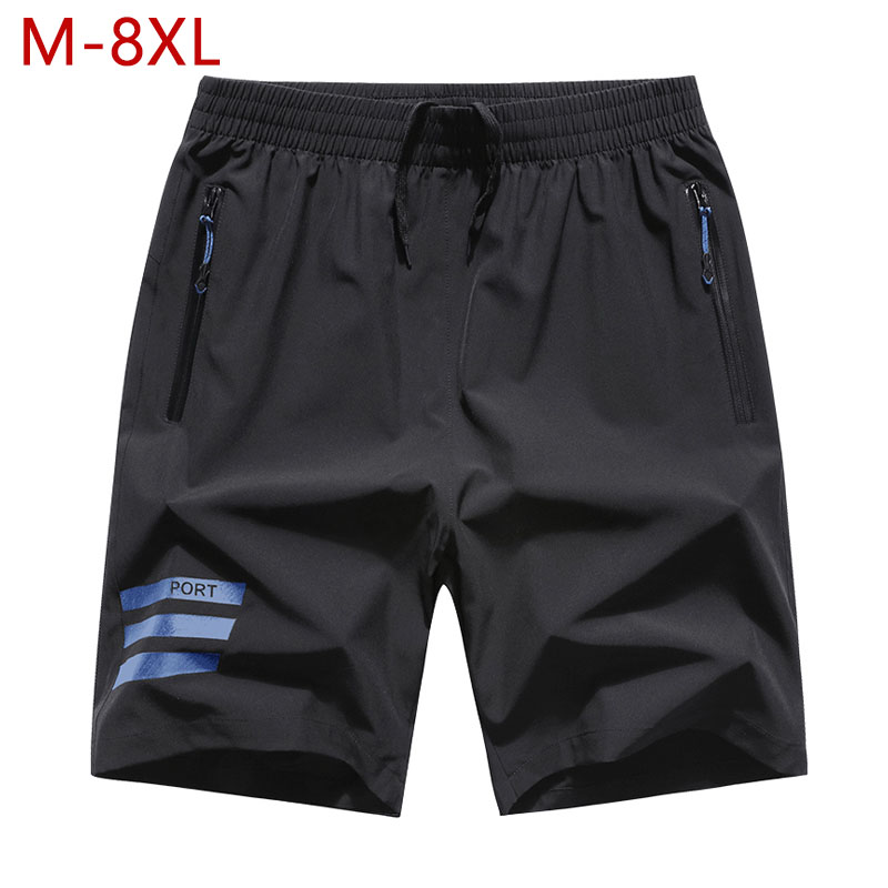 Plus Size M-8XL Men Quick Dry Bodybuilding Baggy Shorts Summer Big Size Male Casual Thin Fitness Bermuda Short Beach Trousers