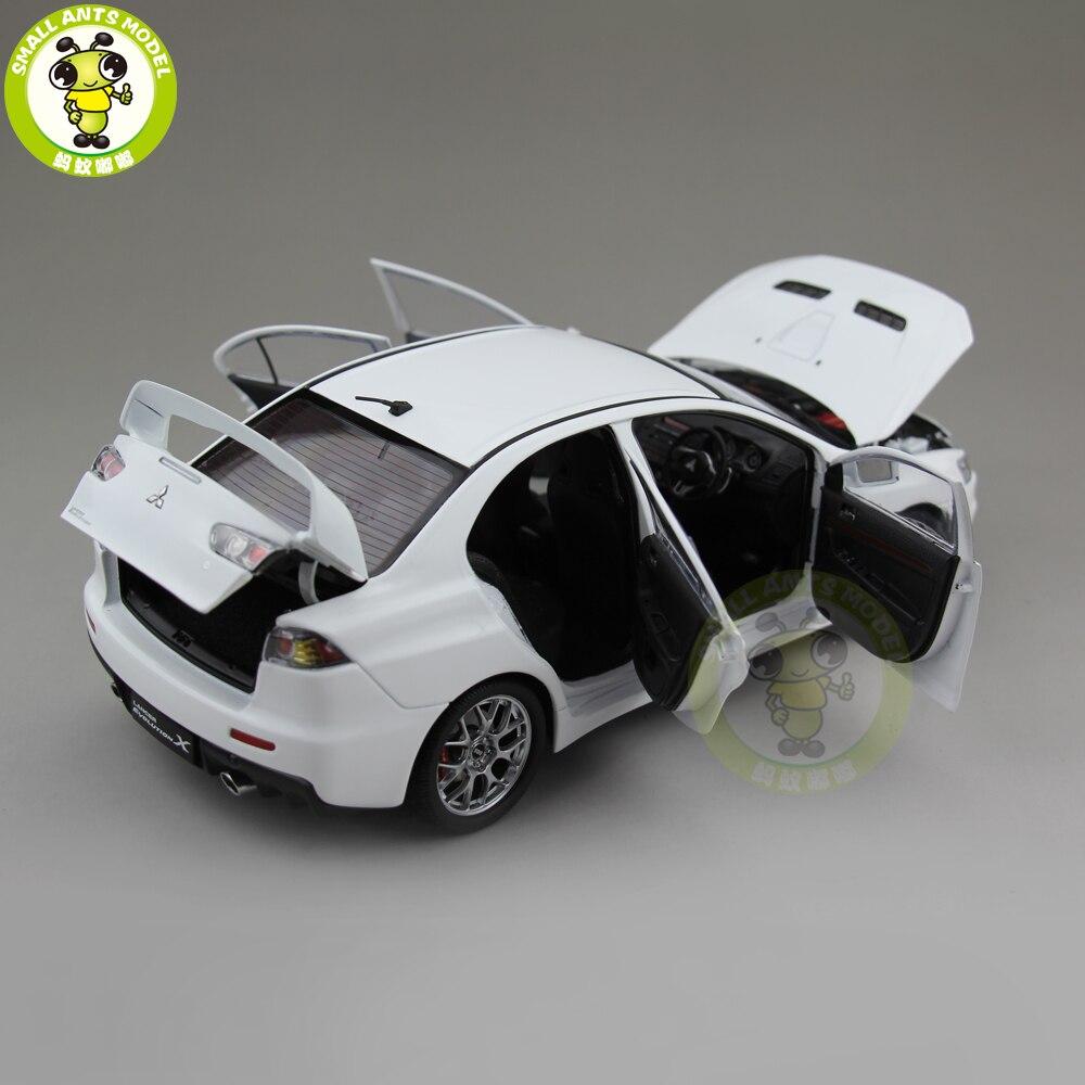1/18 三菱ランサー EVO X 10 EVO X 右ステアリングホイール金属ダイキャストカーモデルのおもちゃガールボーイギフト白色  グループ上の おもちゃ & ホビー からの ダイキャスト & 車のオモチャ の中 3