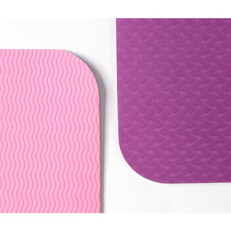 High Quality183cmx61cmx0.6cm Tpe Yoga Mat Non Slip Carpet Mat Exercise Mat For Beginner Environmental Fitness Gymnastics Mats