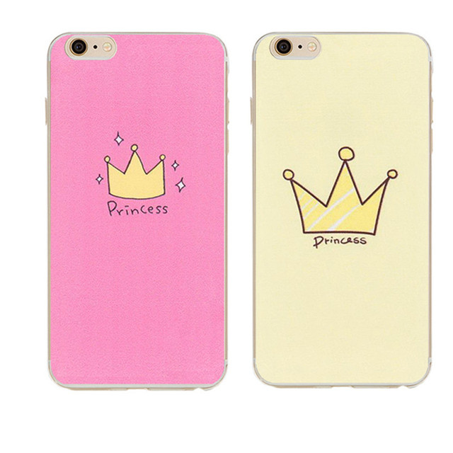 Cute Design Crown Transparent Silicone Cover Coque For Iphone 5 Case
