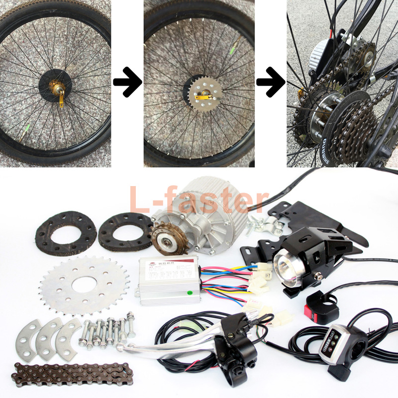 L faster Newest 450W E bike Motor Kit Electric Multiple Speed Bicycle Conversion Kit Electric Engine