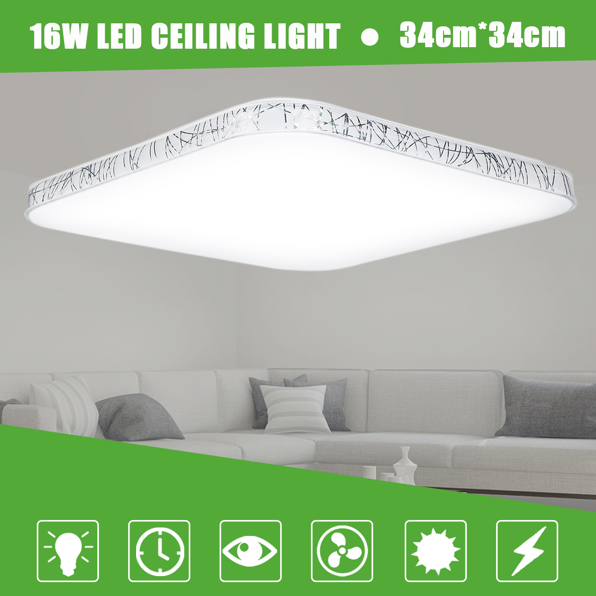 16W 3500K Natrual White Energy Efficient LED Ceiling Light Flush Ceiling Mount lighting Fixture For Kitchen Bathroom Dining Room mlsled mls xd32 16w 16w 1100lm 160 smd 3014 led white ceiling light white 100 240v
