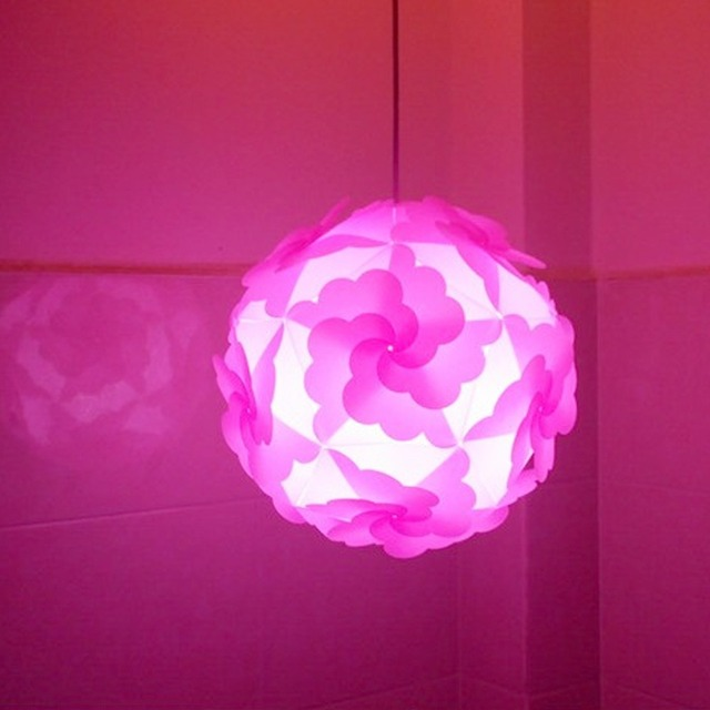 New wholesale price princess pink candy color flower lampshade diy new wholesale price princess pink candy color flower lampshade diy iq pendant light dia 30cm plastic mozeypictures Choice Image