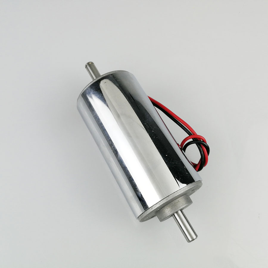 High speed dc12v 48v 400W dc spindle motor engraving machine chrome plated air cooled surface bright silver 12000 r min in DC Motor from Home Improvement
