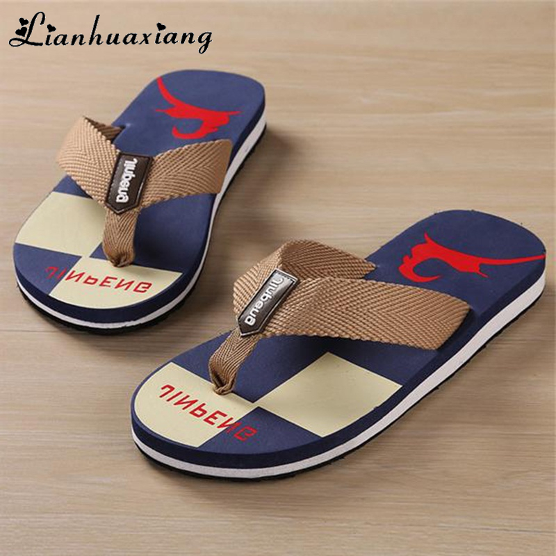 LIANHUAXIANG Sandals Flip-Flops Male Slippers Non-Slide Casual-Shoes Holiday Beach Summer Men title=
