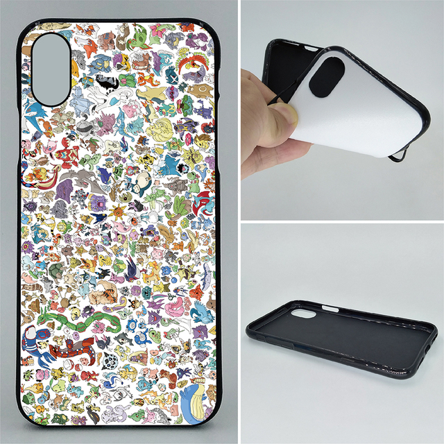 low priced 79739 c8a62 US $3.8 |High Quality Soft TPU Cell phone cases For iPhone X XR XS XS Max  Case All pokemon 2D Patterned Cover-in Half-wrapped Case from Cellphones &  ...