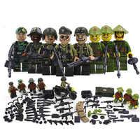 New Compatible LegoINGlys Military American Armies Ww2 Vietnam War Field Battle Figures Building Blocks Model Toys for Boys Gift