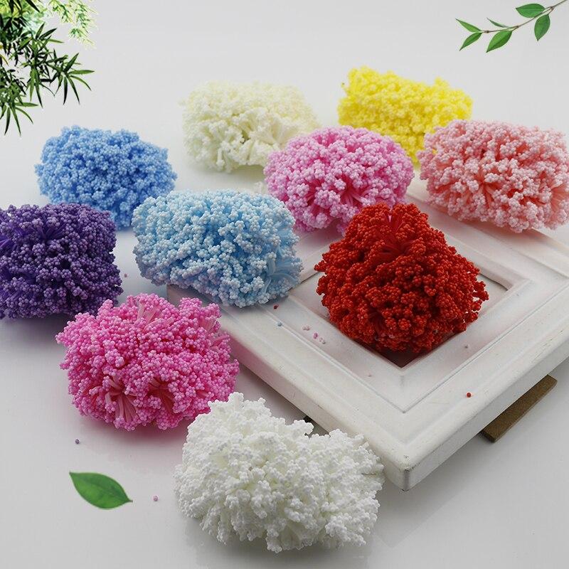 12 шт. мини пены PE помпоном искусственные цветы для свадьбы коробка ручной работы украшения аксессуары DIY помпоном венок поддельные цветы