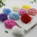 12 Pieces Mini PE Foam Pompom Artificial Flowers For Wedding Box Handmade Decoration accessories DIY Pompom Wreath Fake flowers