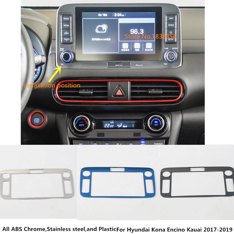 For Hyundai Kona Kauai Encino 2018 2019 Car Steering Wheel: For Hyundai Kona Encino Kauai 2017 2018 2019 Car Stainless