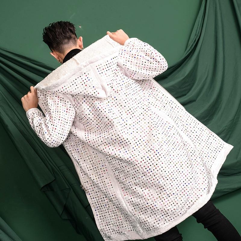 Тяжелое ремесло замша гладильная дрель с капюшоном длинный Тренч пальто мужские выше колена пальто похудение тренд. M 3XL! - 2
