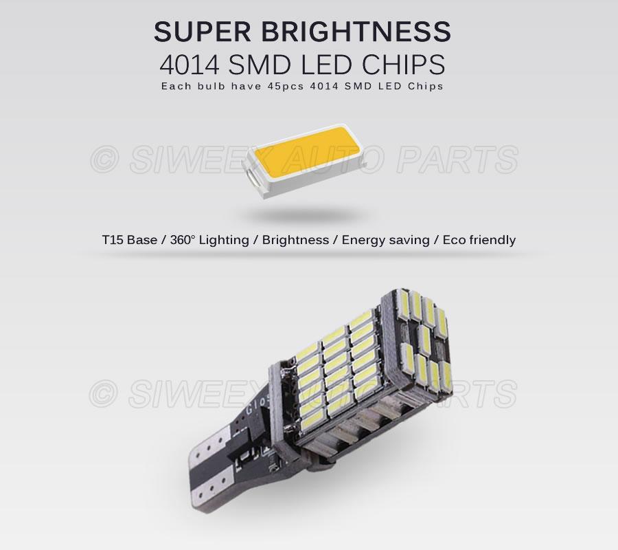 HTB1JIseor1YBuNjSszeq6yblFXaK T15 W16W 921 Super Bright High Power 45 SMD 4014 LED Canbus No ERROR Car Backup Reserve Lights Bulb Brake Lamp Xenon White