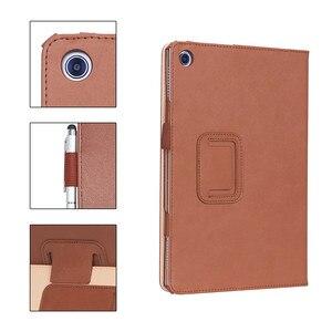 Image 3 - Per Huawei MediaPad M5 Lite 10 di Cuoio di Caso Del Basamento Tablet Cover Per Huawei M5 lite 10.1 BAH2 W19 BAH2 L09 BAH2 W09 + film