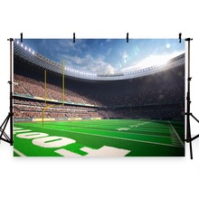 Vinyl Photography Background Football Field Soccer Match Playground Theme Champion Children Backgrounds for Photo Studio