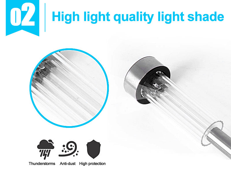 Outdoor Solar Light Colorful Changing Solar Lawn Light Garden Lamp Waterproof Stainless Steel Yard Path Lawn Lamp 13