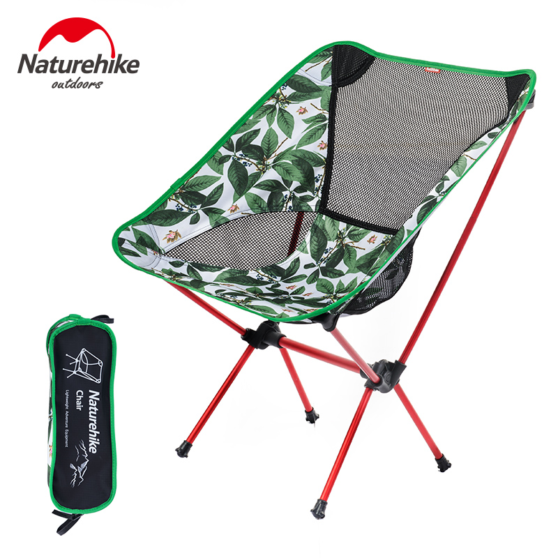 Naturehike Fishing Chair Outdoor Foldable Chair For Picnic BBQ Beach 4 Colors 7075 Aluminium Alloy Portable Camping Chair 800g naturehike portable fishing chair foldable 2 colors steel folding hiking picnic barbecue beach vocation camping chairs