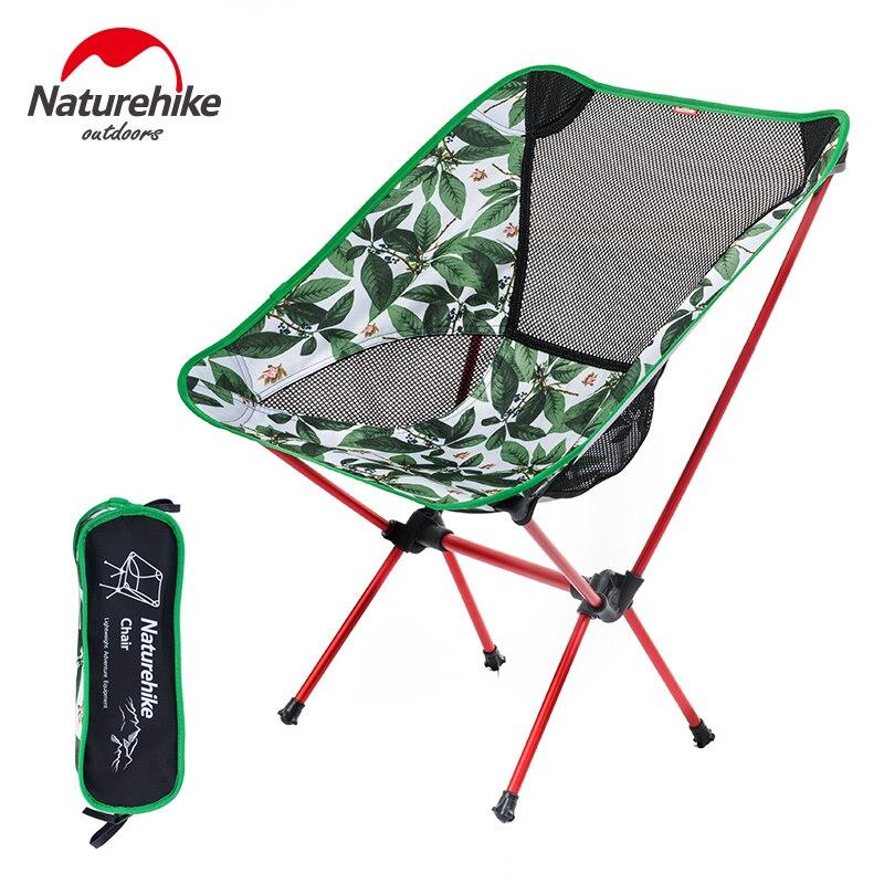 Naturetrekking chaise de pêche en plein air outil chaise pliable pour pique-nique BBQ plage 4 couleurs 7075 en alliage d'aluminium Portable chaise de Camping