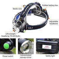 9500LM горячая светодиодная фара xmL t6 L2 Фары Водонепроницаемый Увеличить Фара 18650 аккумуляторная батарея фонарик Налобный фонарик свет z30