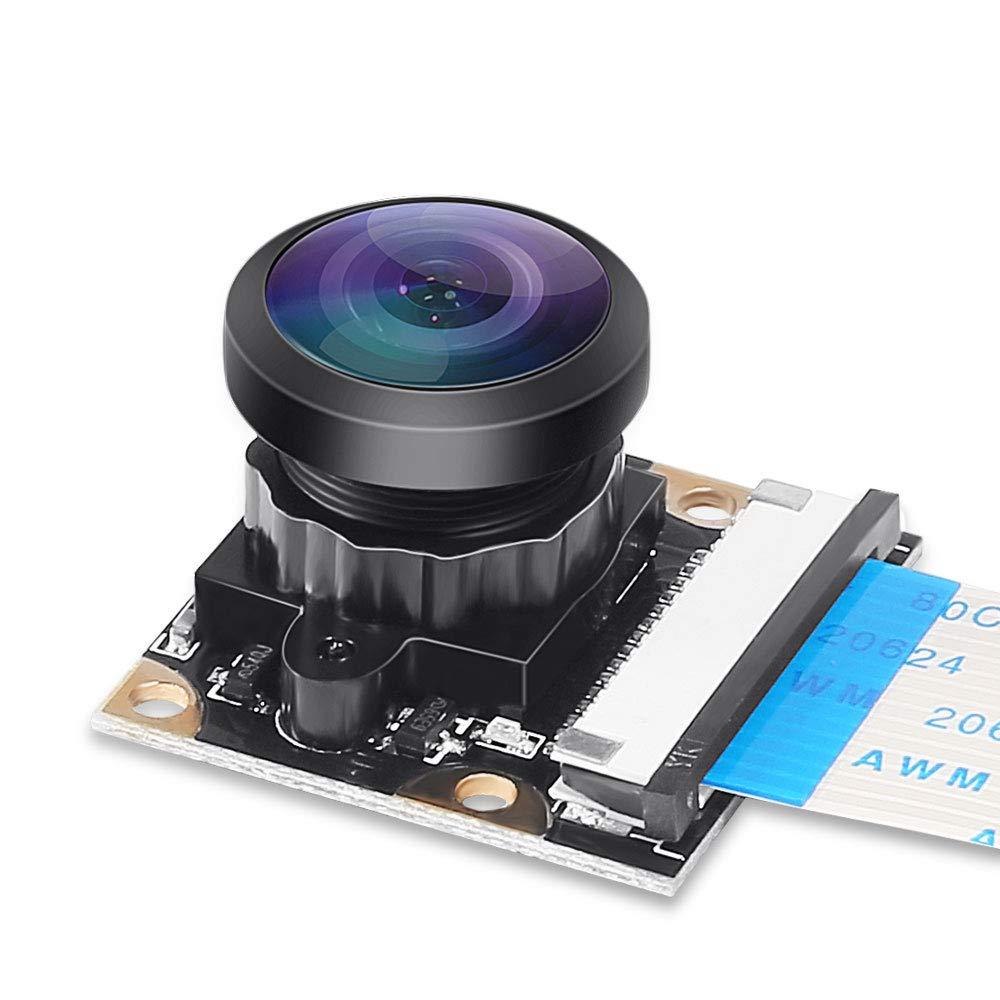 3 Raspberry Pi Modelo b + Camera Webcam 222 Fisheye Wide Angle Grau OV5647 5 M 1080p Câmera de Vídeo módulo para Raspberry Pi A/B 2