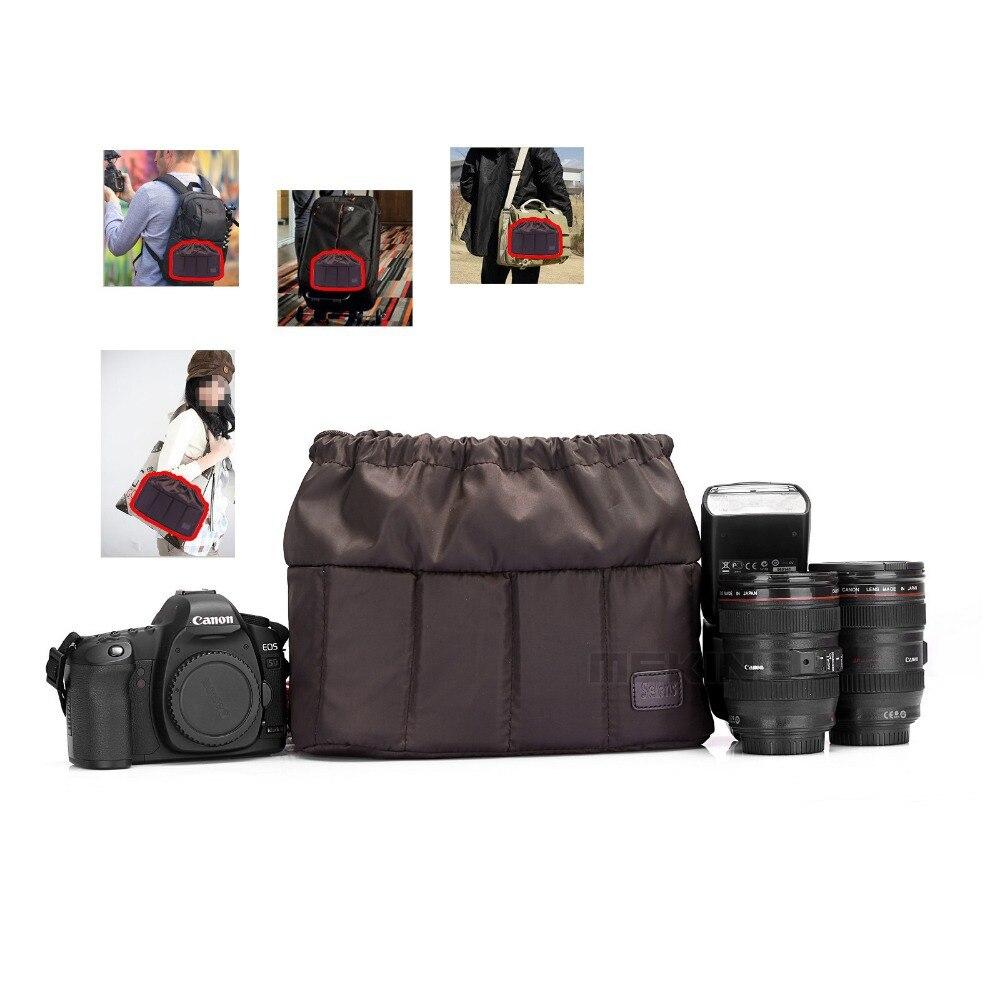 Selens Flexible caméra insert Partition rembourré sac étui pour Canon Nikon Sony DSLR appareil photo objectif