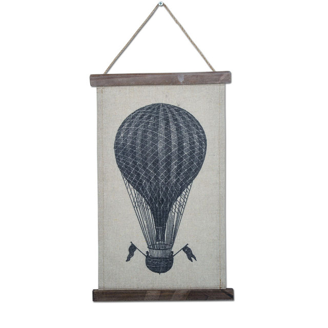 Aliexpress Com Buy Vintage Hanging Hot Air Balloon Canvas