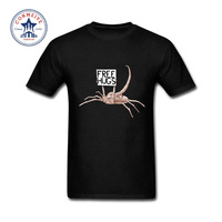 2017 Hot High Quality Cotton Alien Scorpion Beg Free Hugs Cotton T Shirt For Men