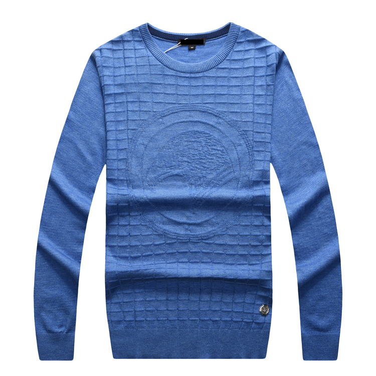 Billionaire wool Sweater men's 2019 new Fashion round neck casual commerce comfort embroidery M-5XL gentleman Free shipping