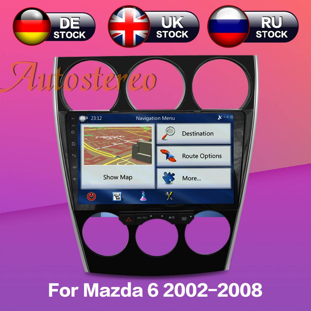 Android Car DVD Player GPS di navigazione autostereo per Mazda6 Mazda 6 2002-2008 Console di sistema multimediale Manuale Auto compatibile