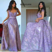 BAISIYOUPIN Turkey Lavender Dubai prom dresses party dress