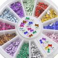 High Quality Hot3mm Multicolor 3D Bowknot Nail Art Stickers DIY Manicure Tips Decoration Wheel 7COS