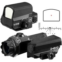 D EVO Dual Enhanced View Optic Reticle Rifle Scope Magnifier With LCO Red Dot Sight Reflex Sight Rifle Sight