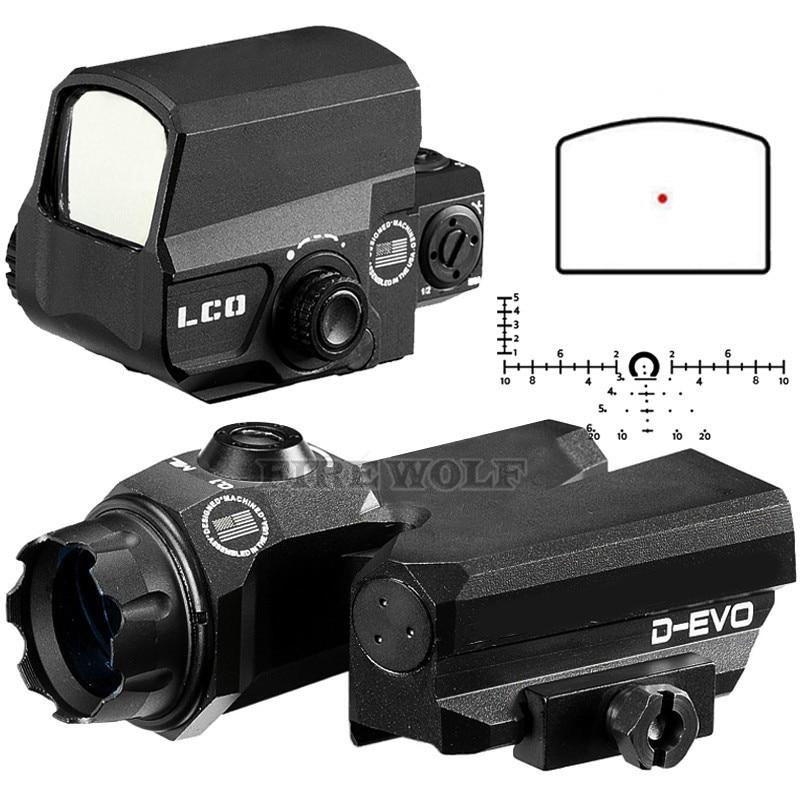 D-EVO Dual-Enhanced Vista Ottica Reticolo Portata del Fucile di Lente di Ingrandimento Con LCO Rosso di Vista del Puntino Mirino Reflex Mirino per Fucile