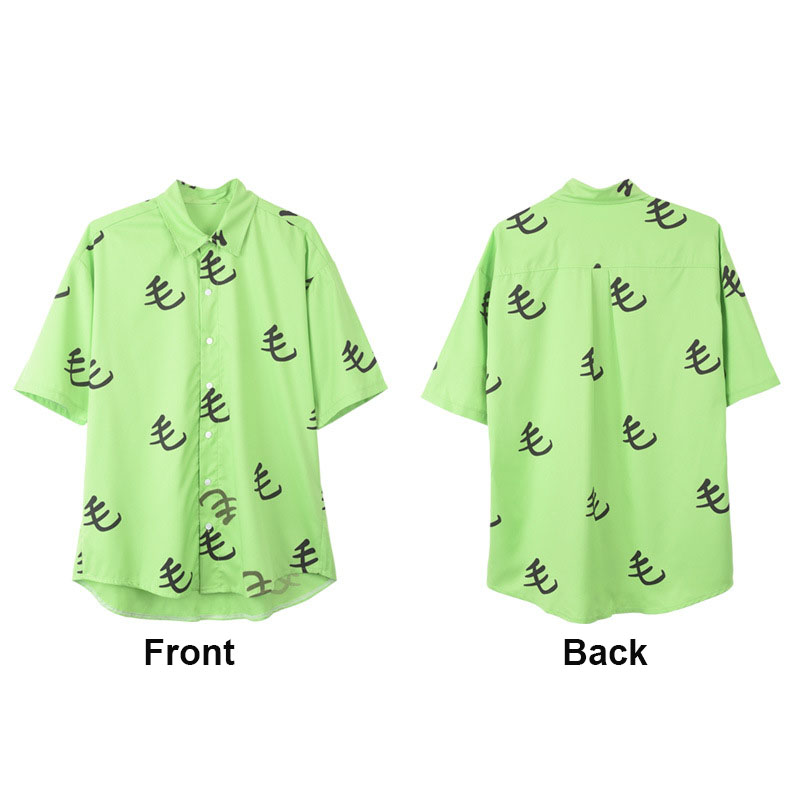Cosroad One Punch Man Saitama Green Mao Shirt Cosplay Costume Oppai Tee Outfit T-Shirts for Halloween Party (2)