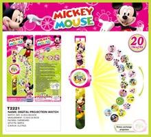 3D Mickey Mouse Cartoon Projection Watch Kids Spiderman Doraemon Minions  Children Digital Wrist Watches Gift Clock