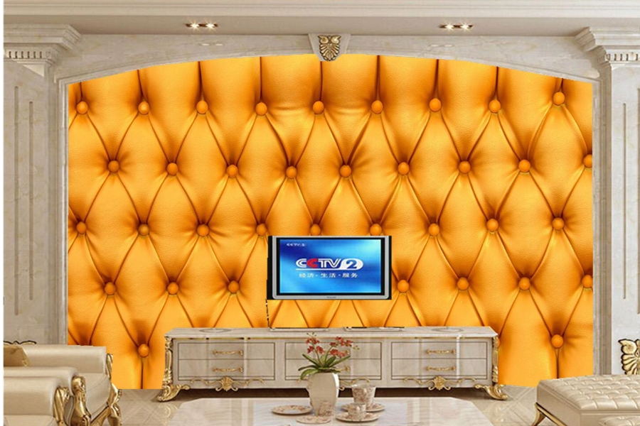 Papel de parede,Texture leather skin Yellow wallpapers, hotel room restaurant living room sofa TV wall bedroom 3d murals custom 3d murals cartoon wolf papel de parede hotel restaurant coffee shop living room sofa tv wall children bedroom wallpaper