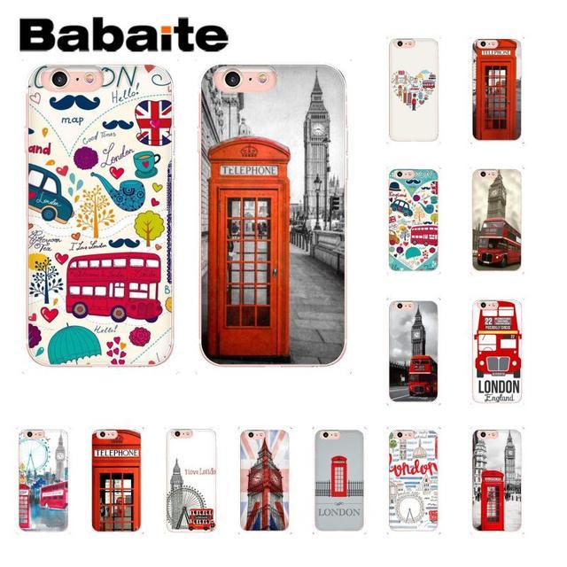Babaite ロンドンバスイングランド電話ノベルティ Fundas 電話ケース iphone 8 7 6 6 s プラス 5 5 s SE XR X XS 最大 10 Coque シェル
