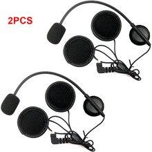 2 шт. наушники с микрофоном Динамик для BT-S1 BT-S2 BT-S3 мотоциклов Bluetooth Интерком переговорные Шлемы-гарнитуры для открытого шлем