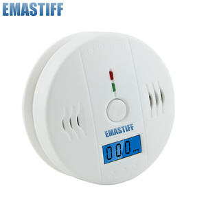 Alarm-Detector Siren Co-Sensor Poisoning Carbon-Monoxide Independent Sound LCD Work-Alone