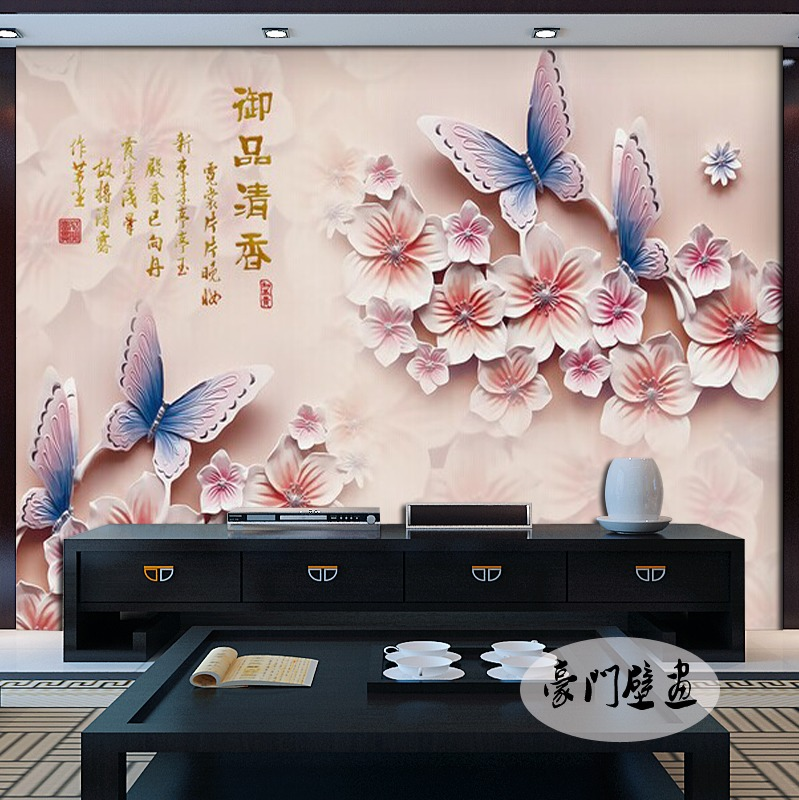 Free Shipping 3D Stereo TV Background Wallpaper Living Room Hotel Restaurant KTV Bar Music Hall Non