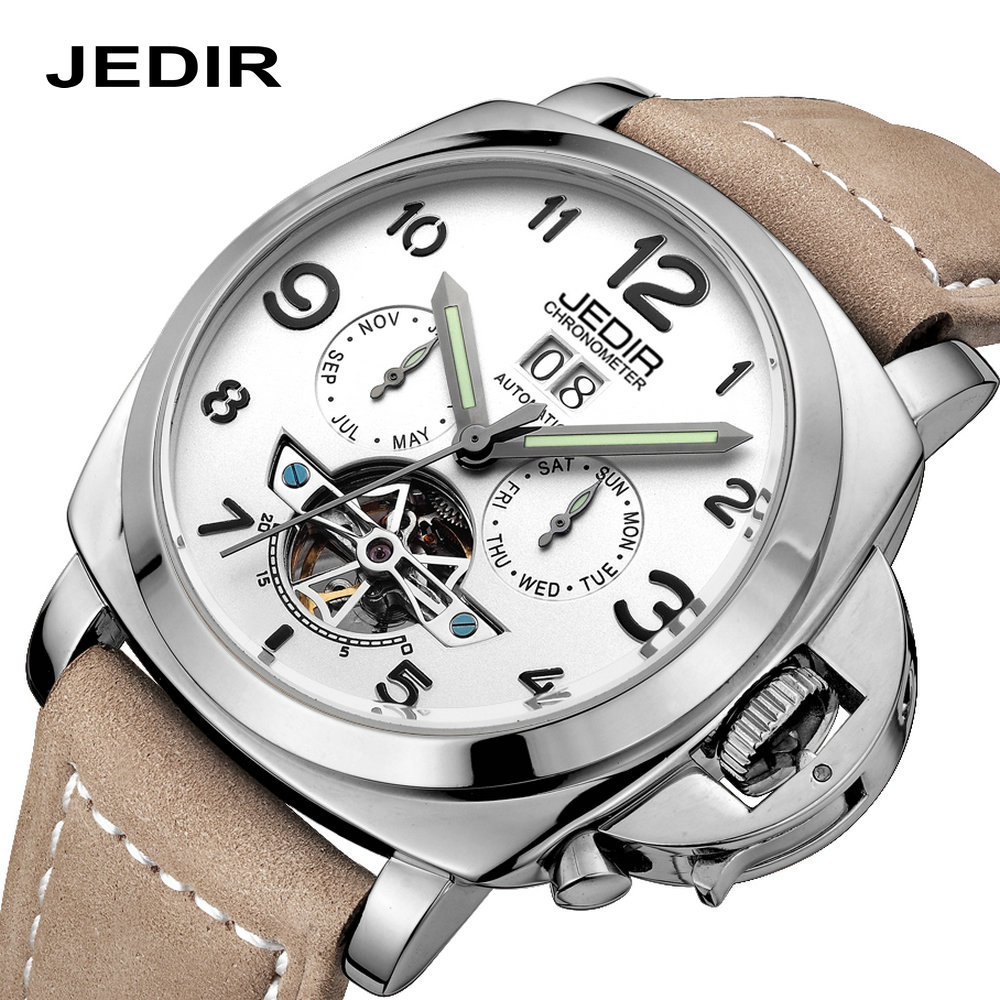 ФОТО men watches Automatic mechanical waterproof writwatch 2016 Hodinky Top Brand Luxury Famous JEDIR Male Clock Relogio Masculino
