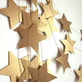 1set 4M Colorful Bunting Hanging Paper Star Garlands birthday wedding party banner shower room door decoration party supplies