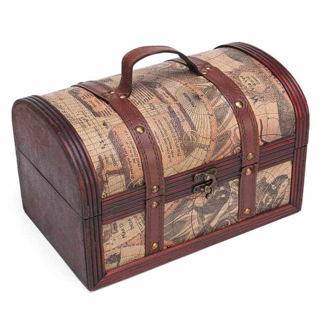 Pirate treasure chest vintage colonial map atlas design storage pirate treasure chest vintage colonial map atlas design storage trunk wedding stylish vintage metal lock chest gumiabroncs