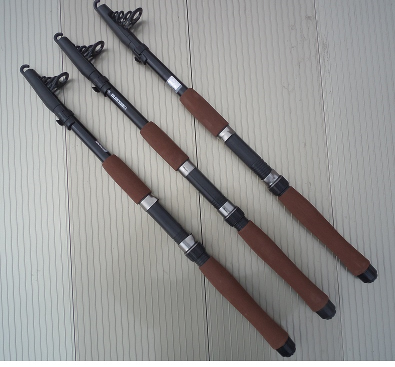 Albacore High elastic materials telescopic fishing rod tough and durable fine workmanship suitable for wild fishing